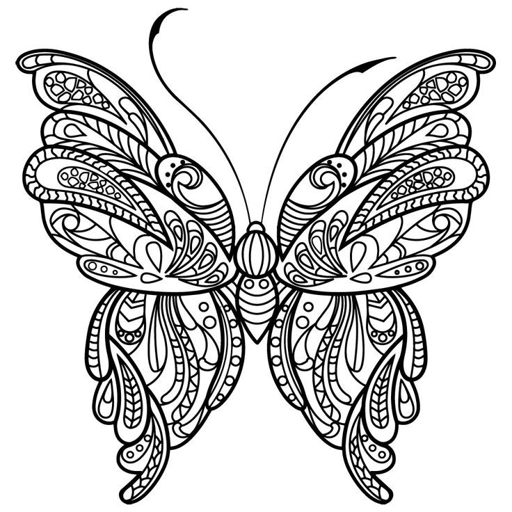 Best ideas about Butterfly Printable Coloring Pages For Adults . Save or Pin 110 best Butterflies Coloring Pages for Adults images on Now.
