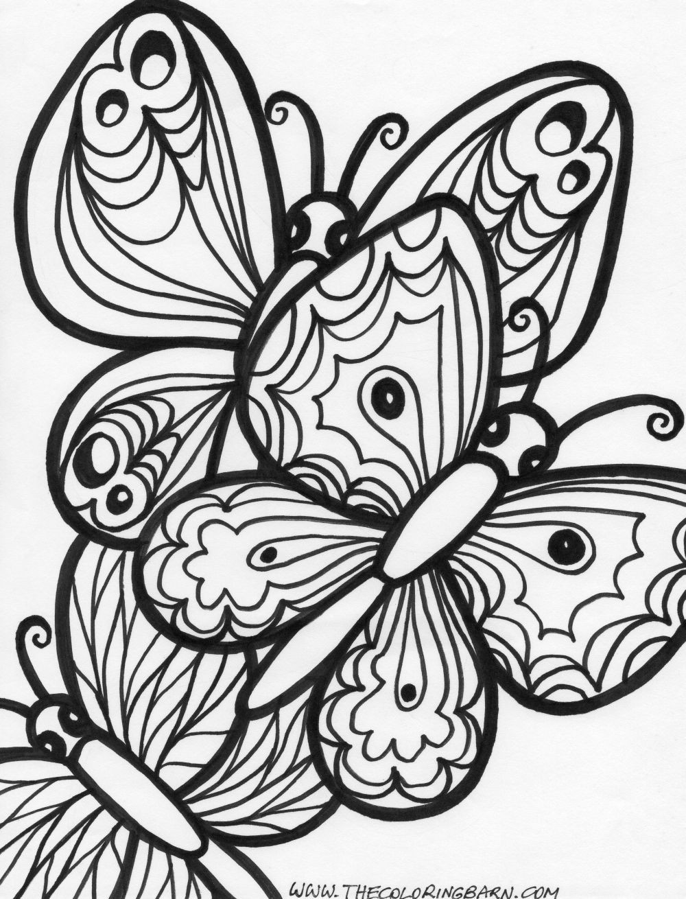 Best ideas about Butterfly Printable Coloring Pages For Adults . Save or Pin Butterfly Coloring Pages Bestofcoloring Now.