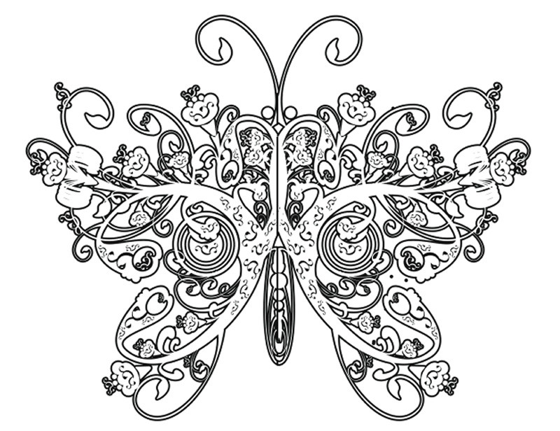 Best ideas about Butterfly Printable Coloring Pages For Adults . Save or Pin plicated Coloring Pages for adults Free To Print Now.