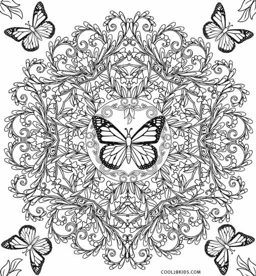Best ideas about Butterfly Printable Coloring Pages For Adults . Save or Pin Printable Butterfly Coloring Pages For Kids Now.