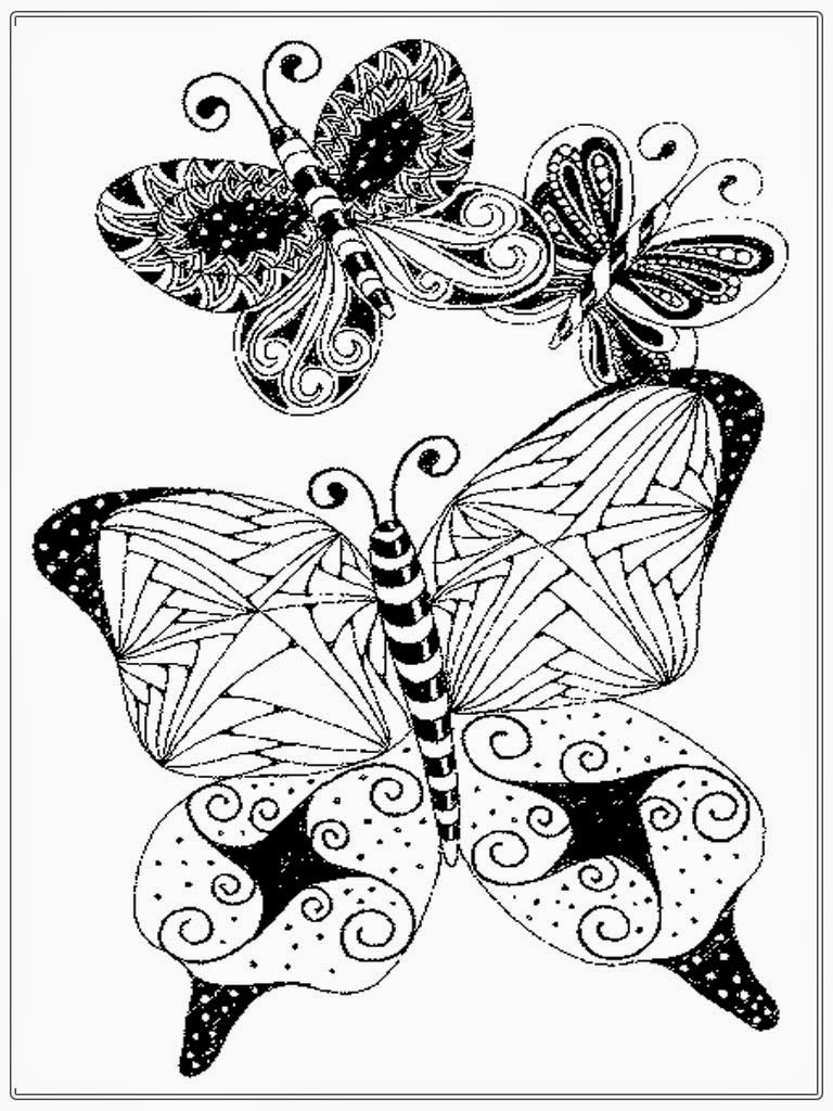 Best ideas about Butterfly Printable Coloring Pages For Adults . Save or Pin Adult Coloring Pages Butterfly Now.