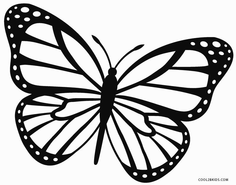 Best ideas about Butterfly Printable Coloring Pages . Save or Pin Printable Butterfly Coloring Pages For Kids Now.