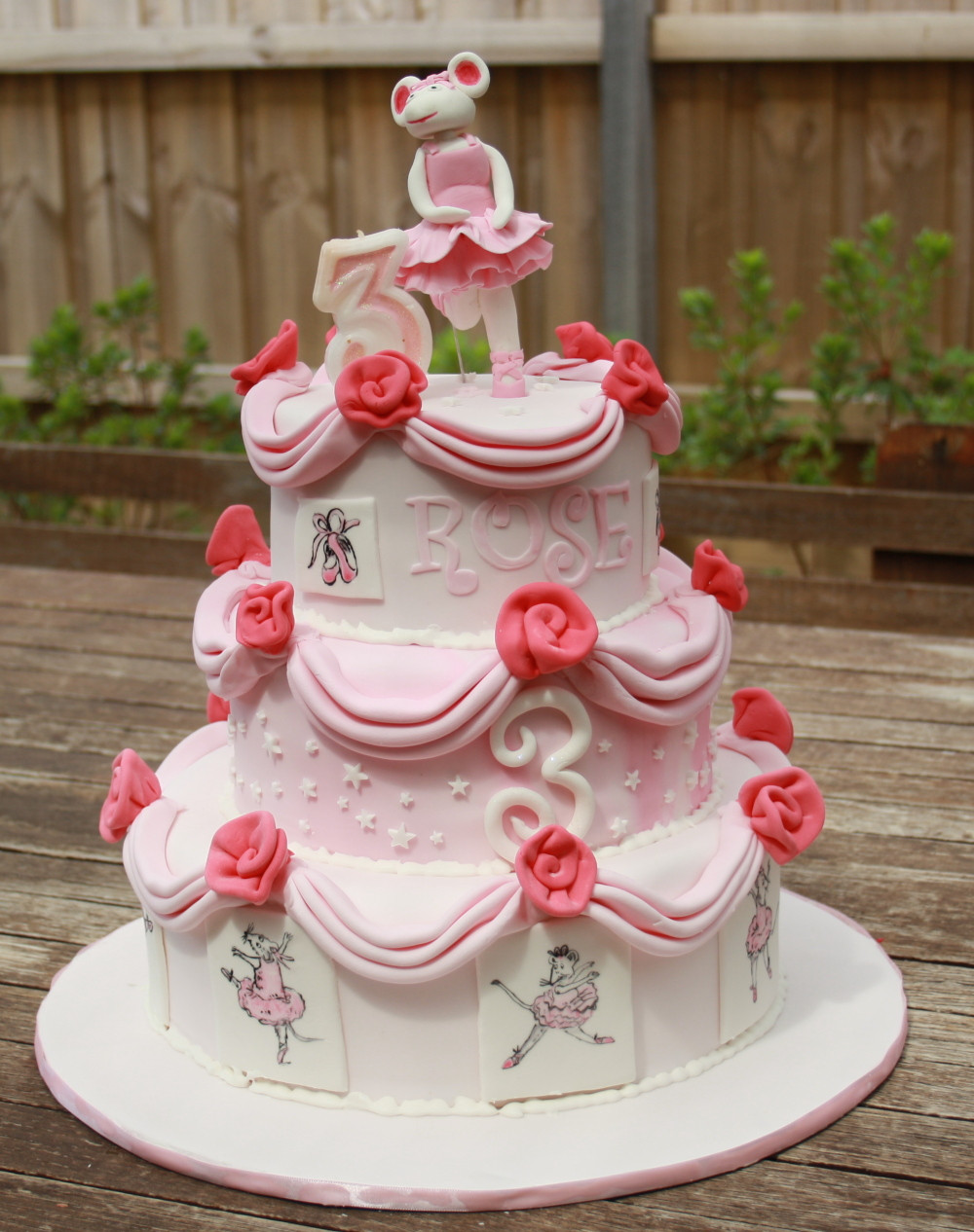 Best ideas about Cake Birthday . Save or Pin Birthday Cake Angelina Ballerina Cake Now.