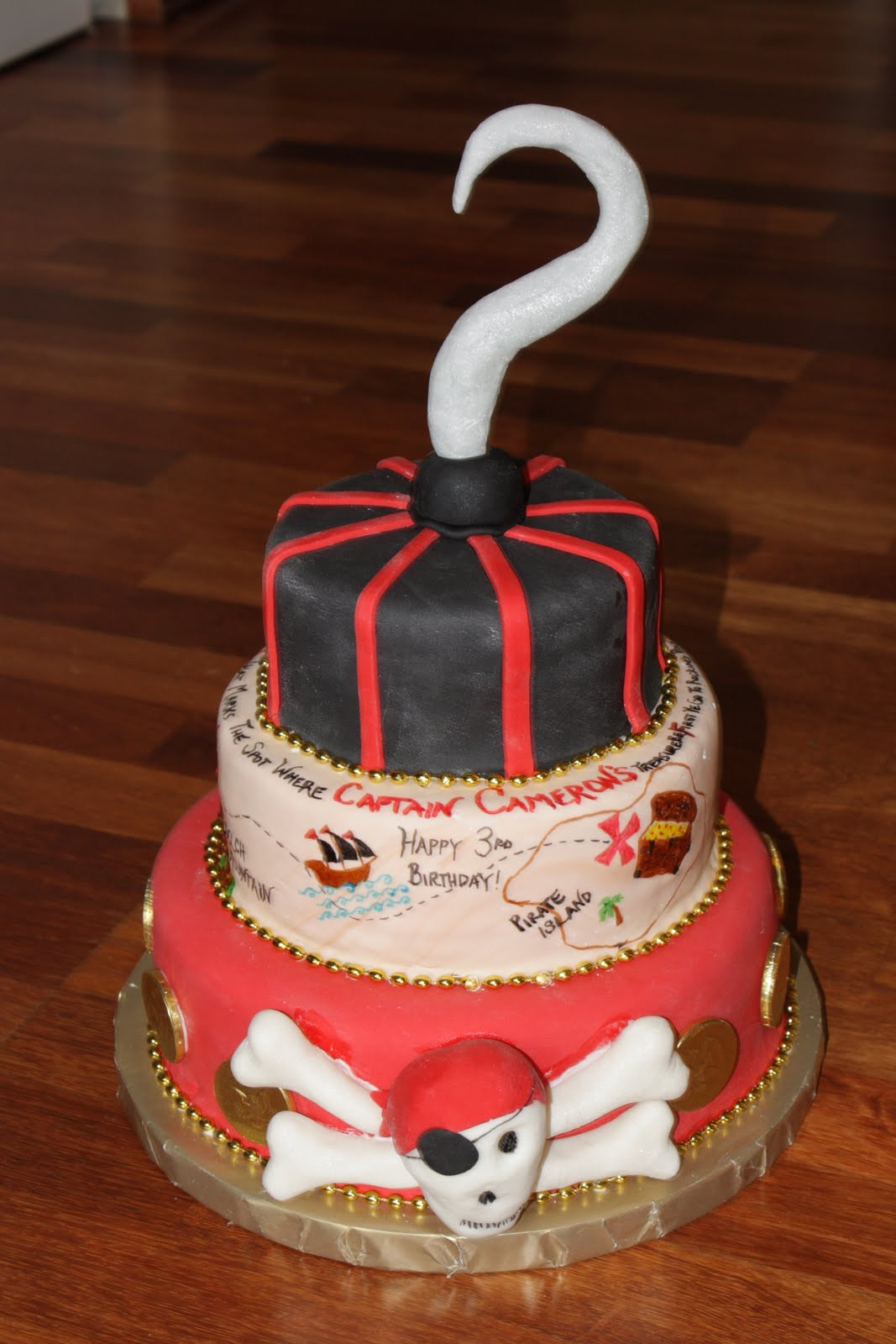 Best ideas about Cake Birthday . Save or Pin Custom Cakes By Britt Pirate Birthday Cake Now.