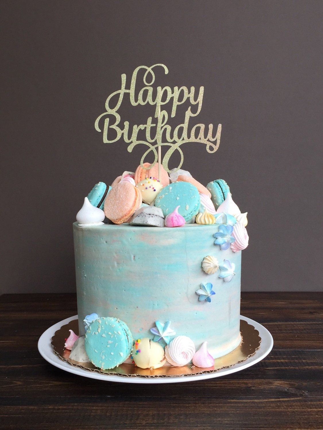 Best ideas about Cake Happy Birthday . Save or Pin Cake topper Happy Birthday cake topper birthday cake Now.