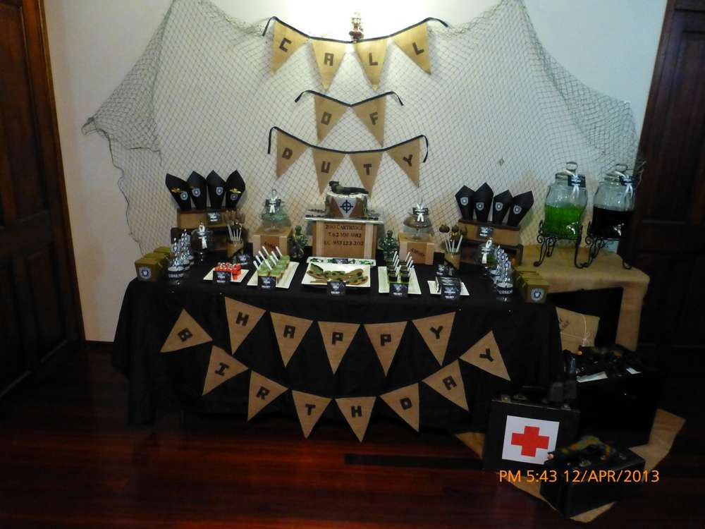 Best ideas about Call Of Duty Birthday Party . Save or Pin Call of Duty Black ops Birthday Party Ideas Now.