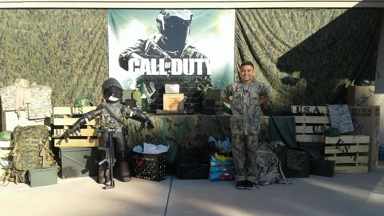 Best ideas about Call Of Duty Birthday Party . Save or Pin CALL OF DUTY PARTY Damian s 9th birthday Now.
