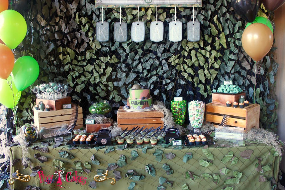Best ideas about Call Of Duty Birthday Party . Save or Pin Call of Duty Theme Party – Pixy Cakes Now.