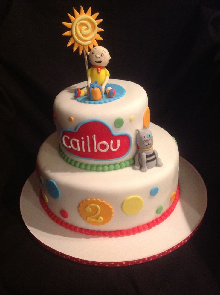 Best ideas about Calliou Birthday Cake . Save or Pin Caillou Cake by Amy Hart Now.