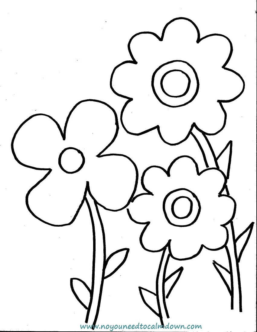 Best ideas about Calming Coloring Sheets For Kids . Save or Pin Spring Flowers Coloring Page for Kids Free Printable Now.