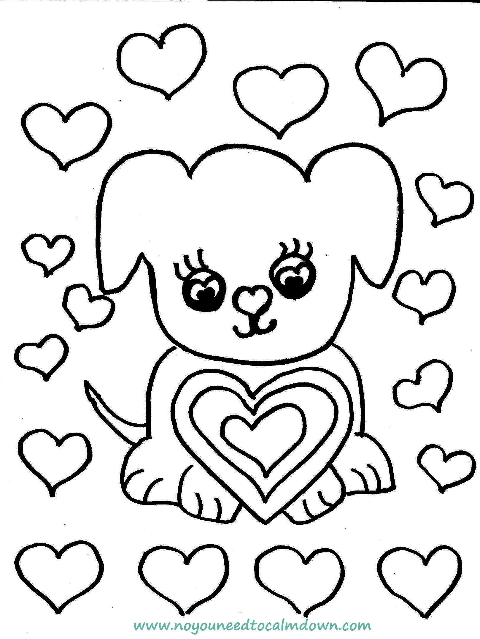 Best ideas about Calming Coloring Sheets For Kids . Save or Pin dog coloring page feature Now.