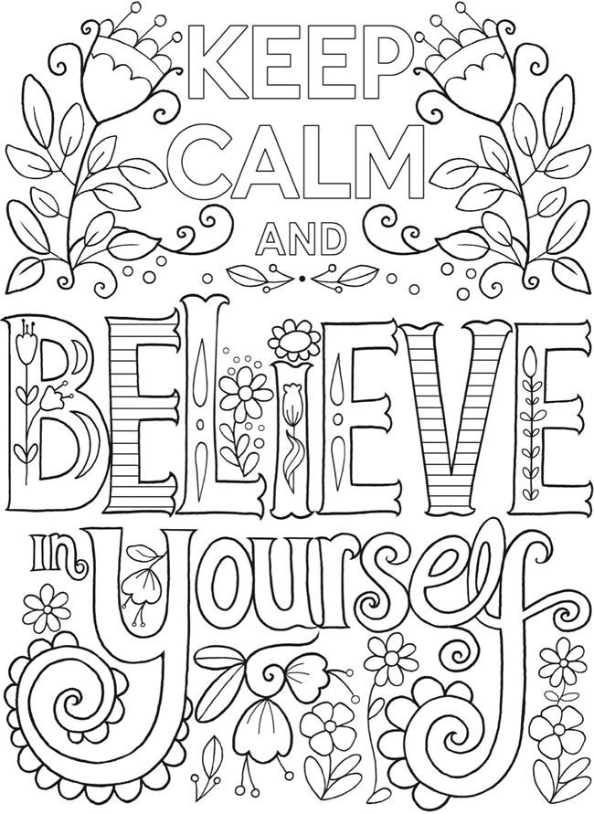 Best ideas about Calming Coloring Sheets For Kids . Save or Pin Creative Haven Keep Calm and Coloring Book Dover Now.