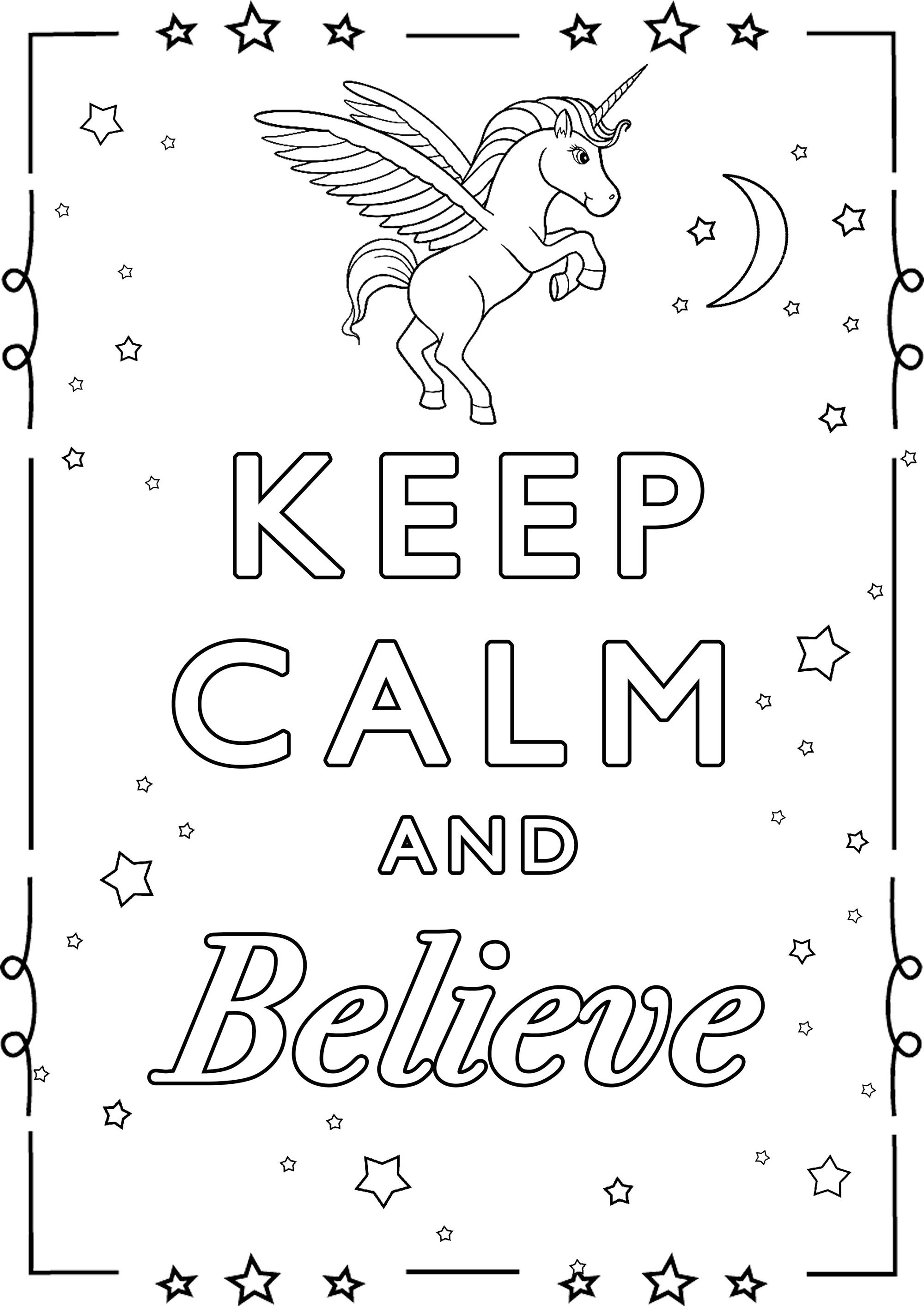 Best ideas about Calming Coloring Sheets For Kids . Save or Pin Keep Calm and believe Keep calm & … Adult Coloring Pages Now.