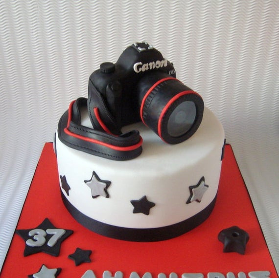 Best ideas about Camera Birthday Cake . Save or Pin Camera Cake Topper 3D Fondant Digital by SweetCakeByAnastasia Now.