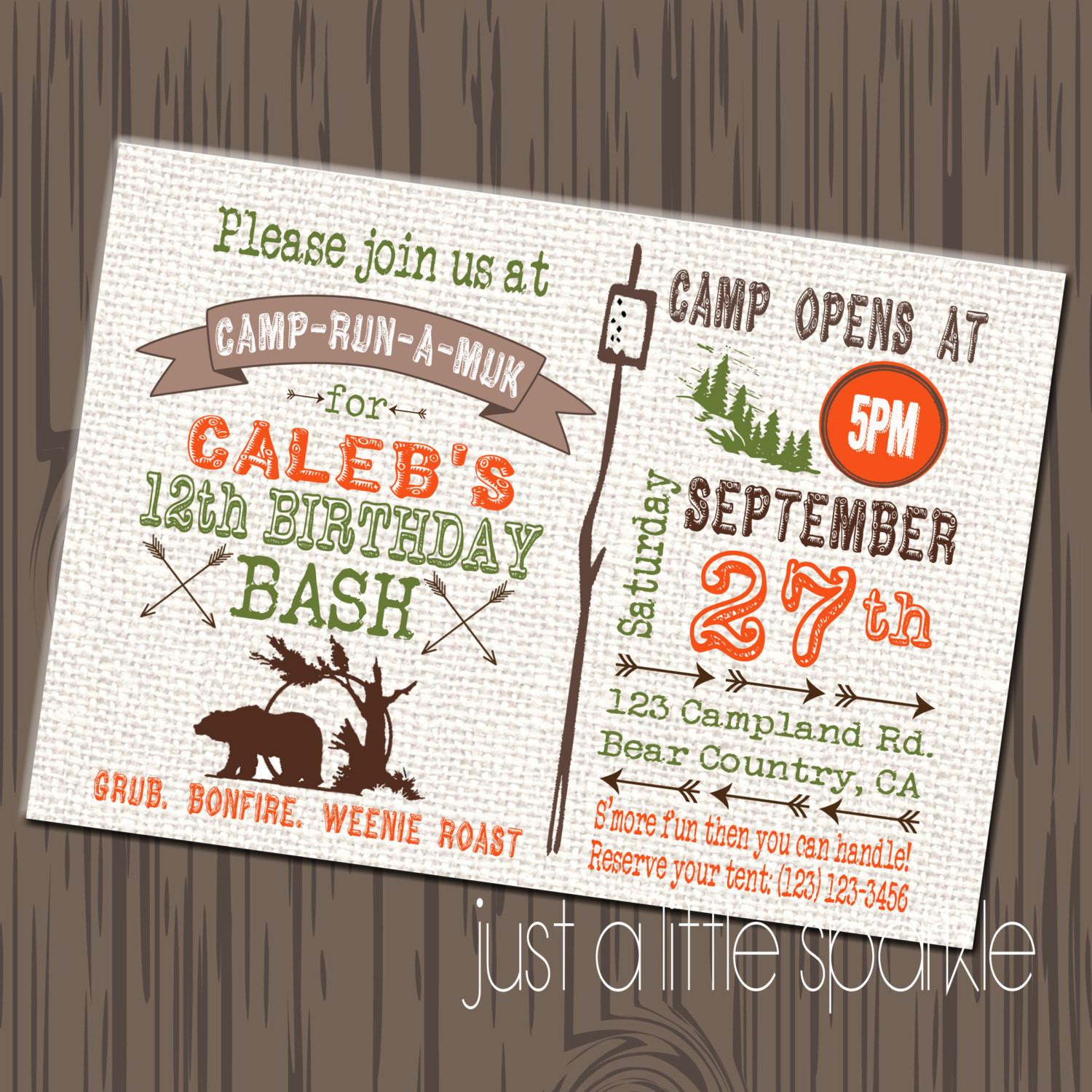 Best ideas about Camping Birthday Invitations . Save or Pin Camping Birthday Invitation DIY Printable by Now.