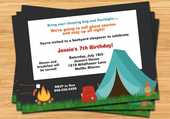 Best ideas about Camping Birthday Invitations . Save or Pin Camping Party Invitation Now.