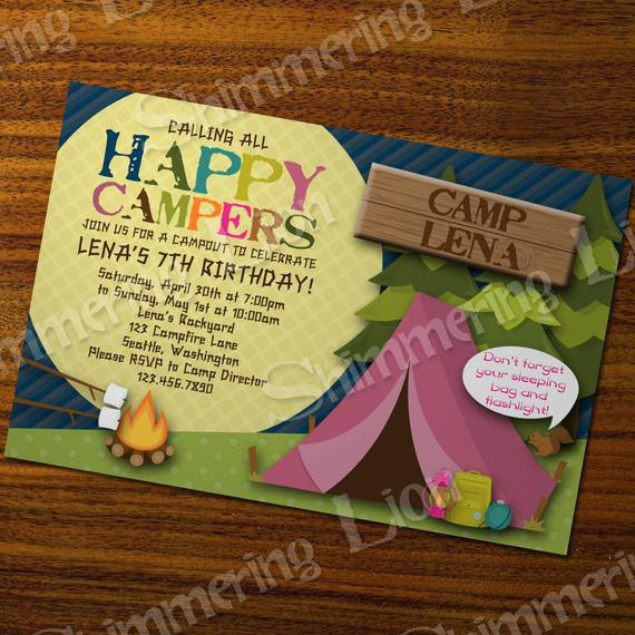 Best ideas about Camping Birthday Party Invitations . Save or Pin 301 Moved Permanently Now.
