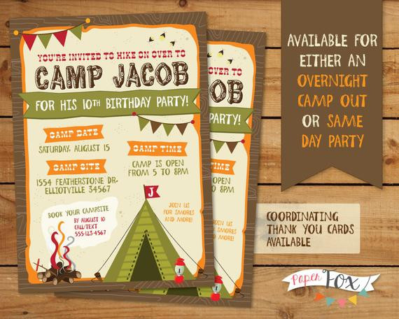 Best ideas about Camping Birthday Party Invitations . Save or Pin Camping Birthday Invitation Camping Birthday by Now.