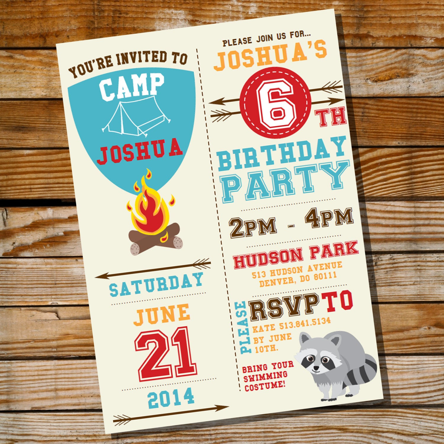 Best ideas about Camping Birthday Party Invitations . Save or Pin Camping Party Invitation for a Boy Birthday Party Instantly Now.
