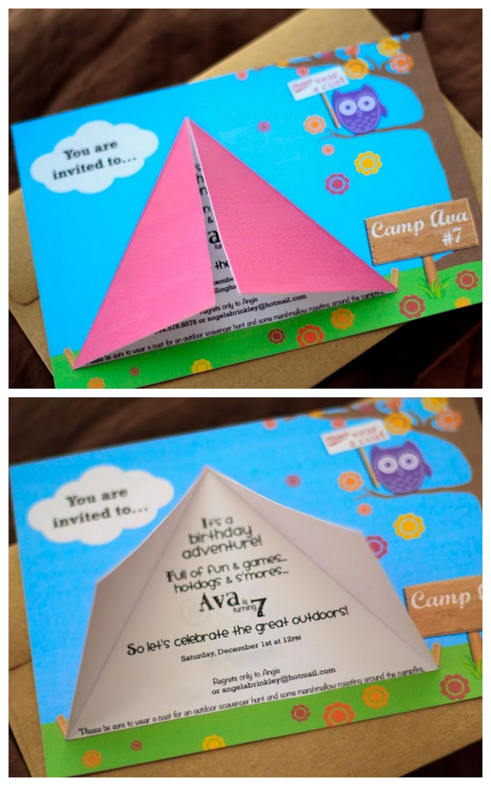 Best ideas about Camping Birthday Party Invitations . Save or Pin angenuity Camping Birthday Party Now.