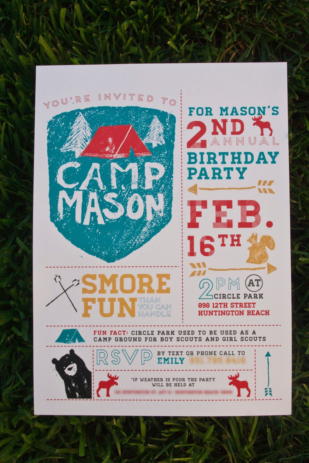 Best ideas about Camping Birthday Party Invitations . Save or Pin emily camp design design fancy Camping Party Invitation Now.