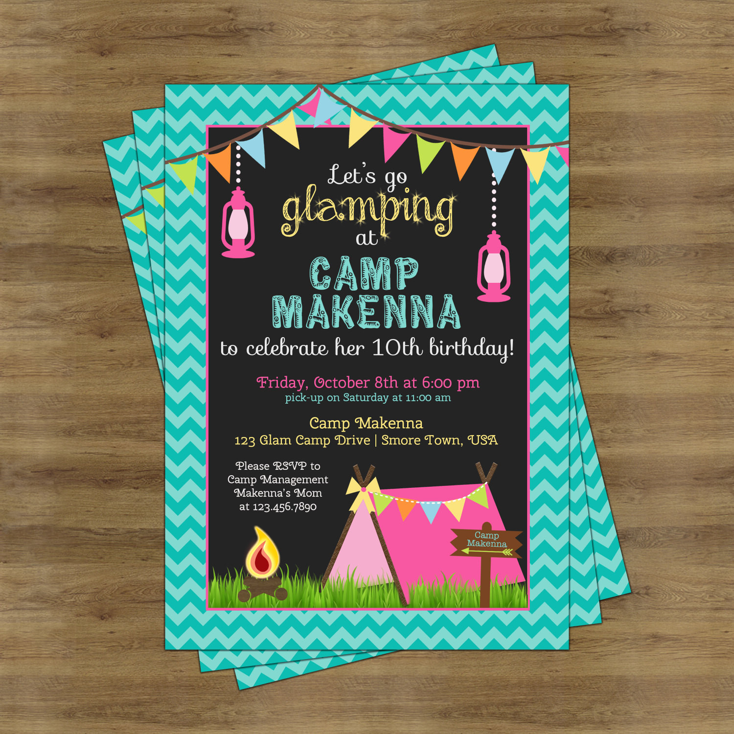 Best ideas about Camping Birthday Party Invitations . Save or Pin Glamping Party Invitation Camping Birthday Invitation for Now.