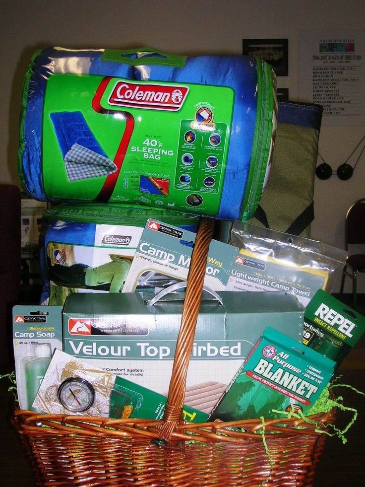 Best ideas about Camping Gift Basket Ideas . Save or Pin 1000 ideas about Camping Gift Baskets on Pinterest Now.