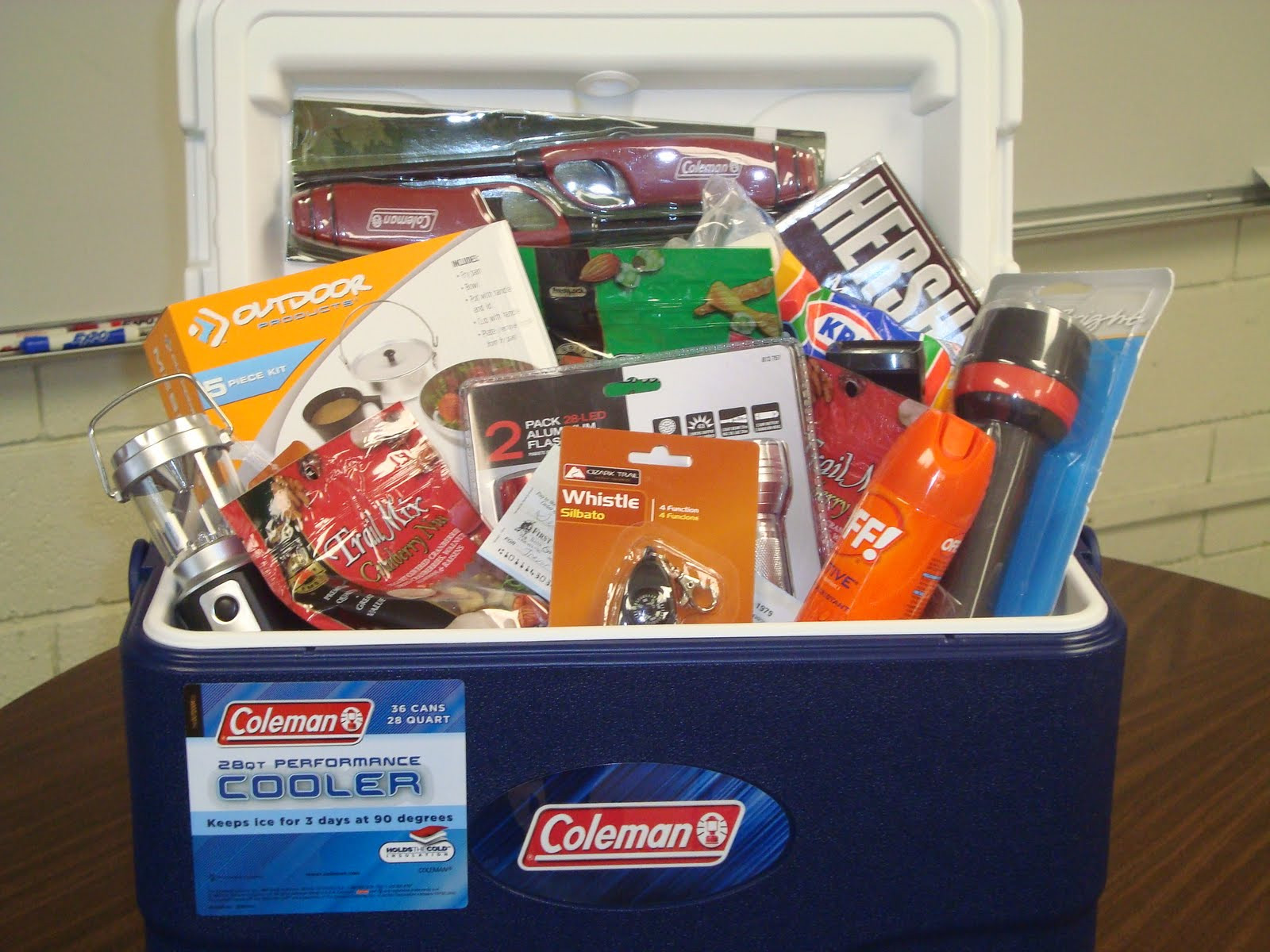 Best ideas about Camping Gift Basket Ideas . Save or Pin Mrs Holwick s Bulldog Blog Camping Basket Now.