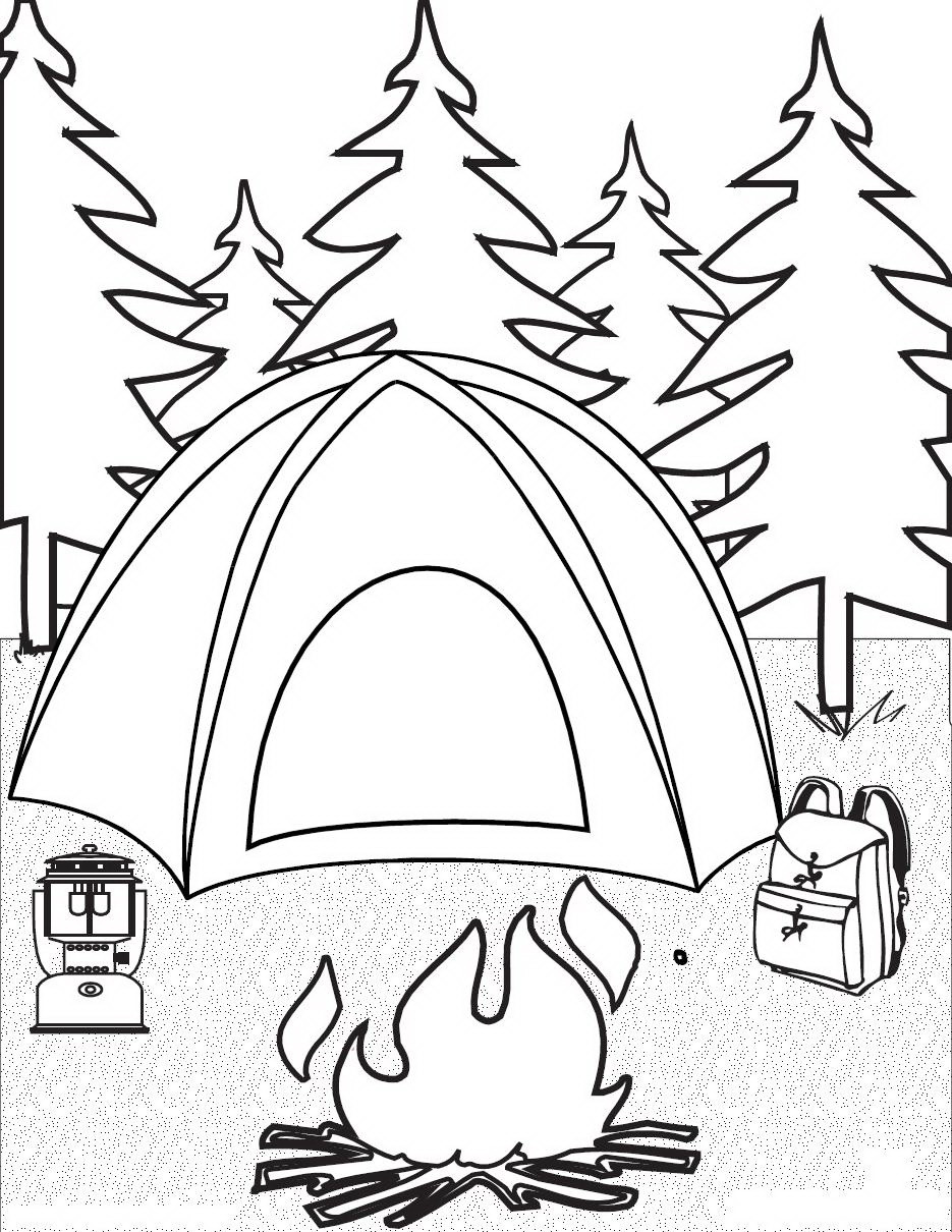 Best ideas about Camping Printable Coloring Pages . Save or Pin Camping Coloring Pages for childrens printable for free Now.