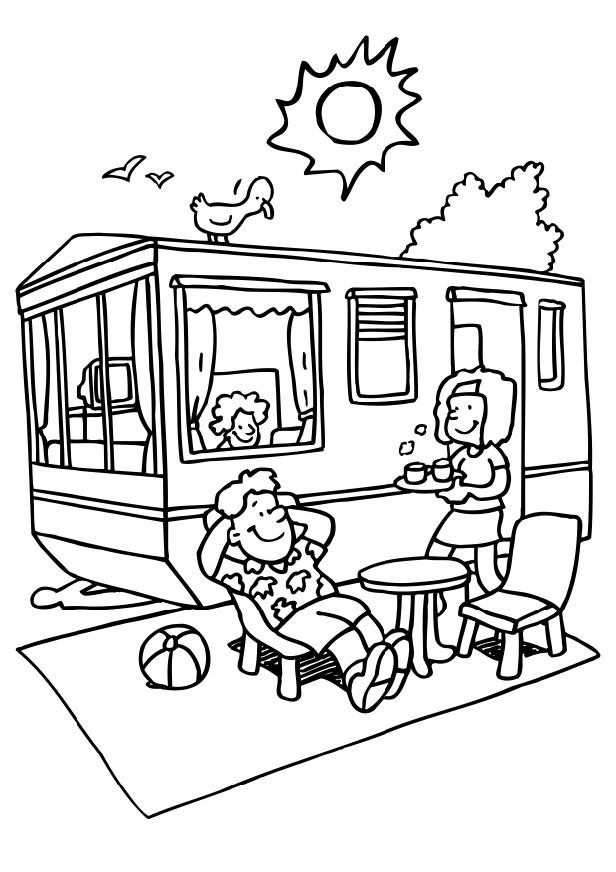Best ideas about Camping Printable Coloring Pages . Save or Pin Fun Coloring Pages Camping coloring pages Now.