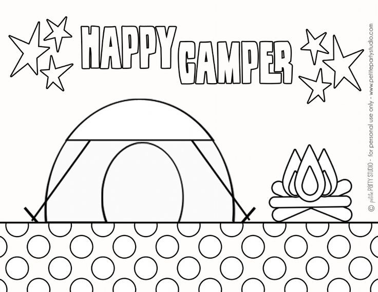 Best ideas about Camping Printable Coloring Pages . Save or Pin free printable Camping Coloring Page by Petite Party Now.