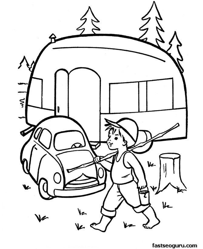 Best ideas about Camping Printable Coloring Pages . Save or Pin 10 images about camping digital stamps on Pinterest Now.