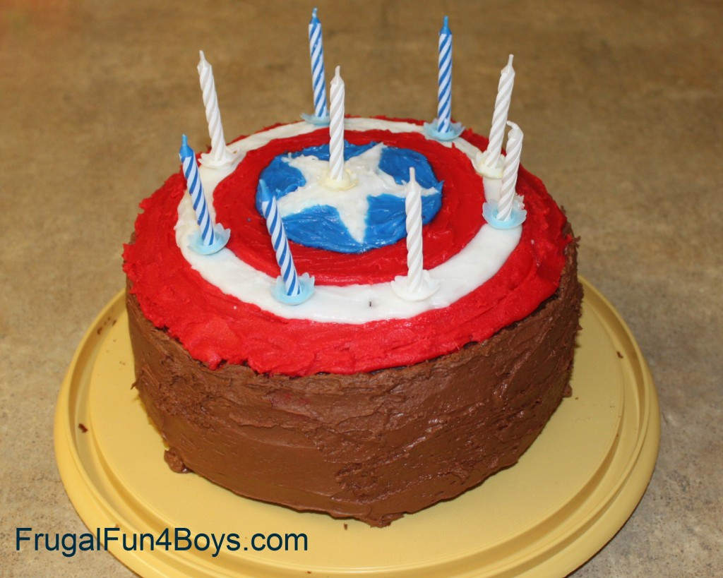Best ideas about Captain America Birthday Cake . Save or Pin Captain America Birthday Cake Frugal Fun For Boys and Girls Now.
