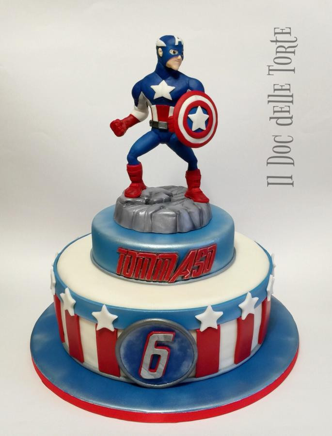 Best ideas about Captain America Birthday Cake . Save or Pin Captain America cake cake by Davide Minetti CakesDecor Now.