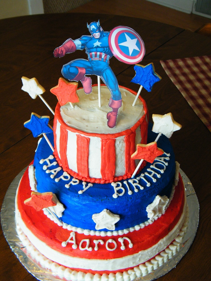 Best ideas about Captain America Birthday Cake . Save or Pin Captain America Birthday Cake Party Ideas Now.