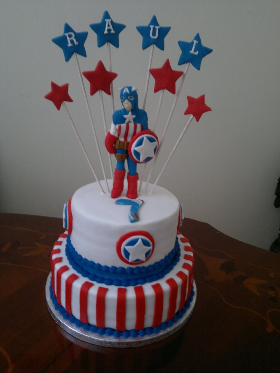Best ideas about Captain America Birthday Cake . Save or Pin Captain America Cake CakeCentral Now.