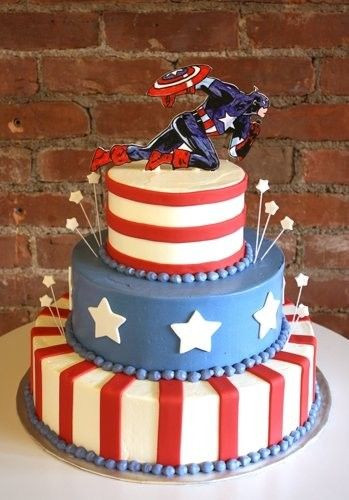 Best ideas about Captain America Birthday Cake . Save or Pin 25 Best Ideas about Captain America Cake on Pinterest Now.