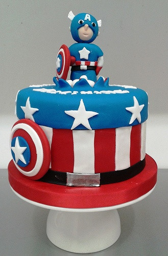 Best ideas about Captain America Birthday Cake . Save or Pin Captain america Custom birthday cakes and America on Now.