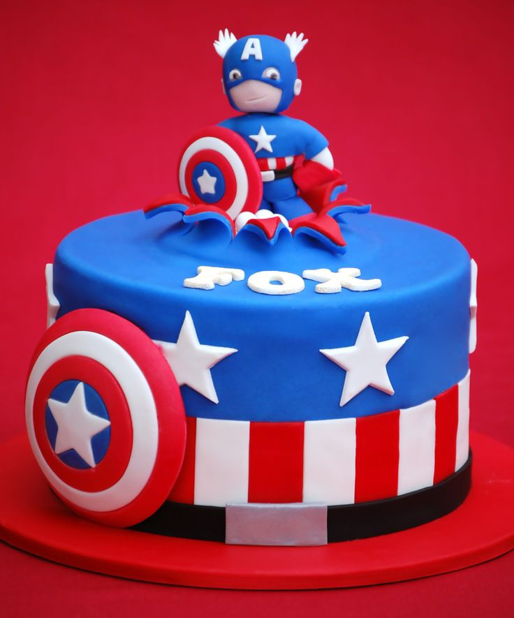 """Best ideas about Captain America Birthday Cake . Save or Pin Superheroes Cakes 7"""" Captain America and Thor cakes for Now."""