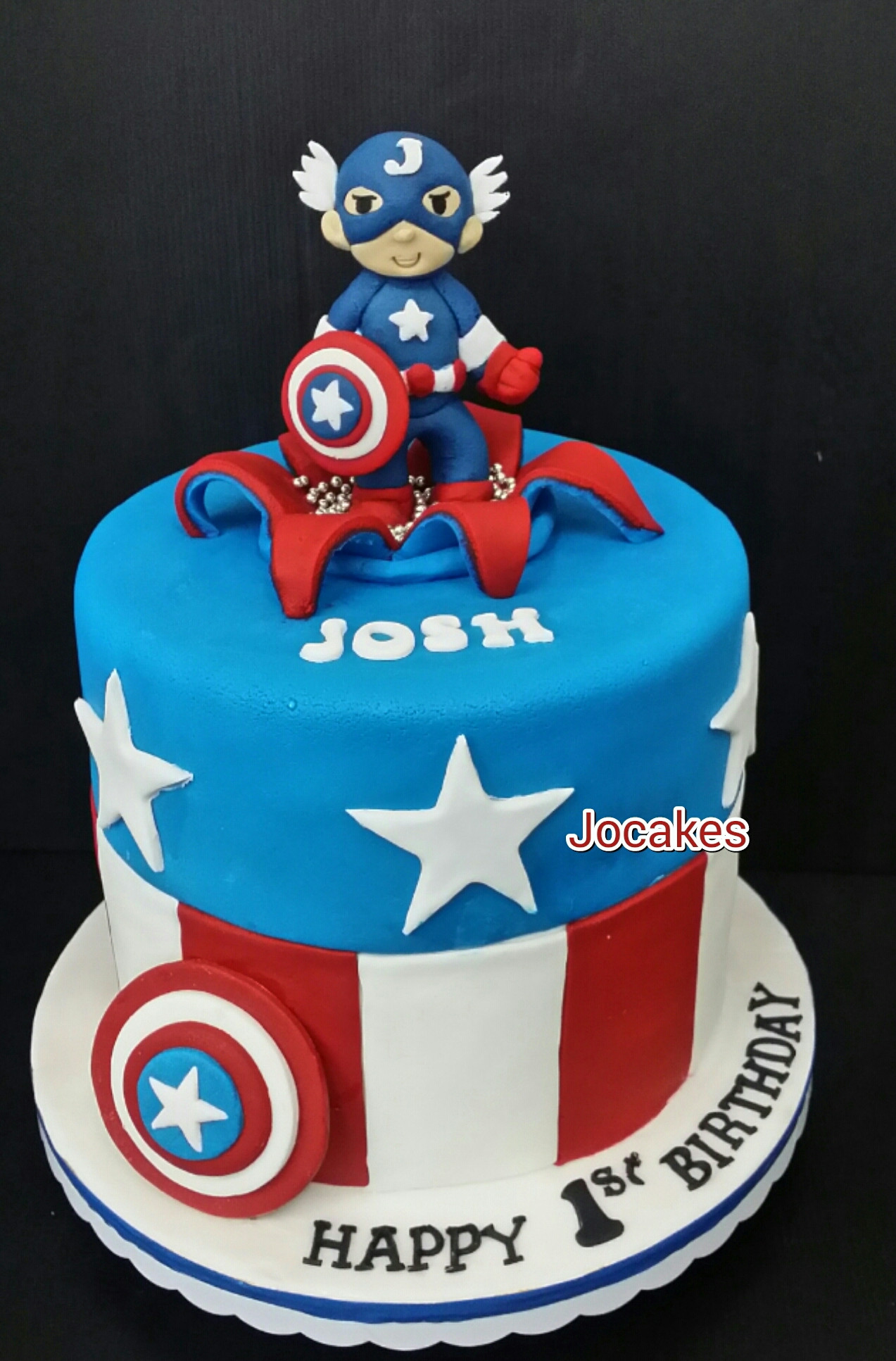 Best ideas about Captain America Birthday Cake . Save or Pin Super heroes cakes cupcakes cookies Now.