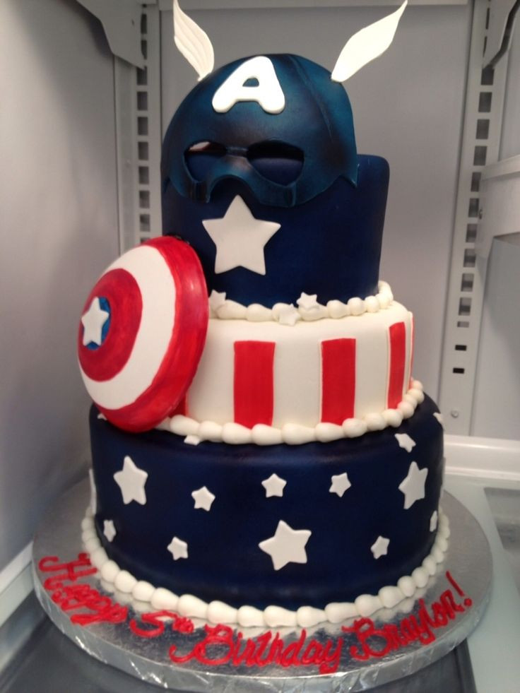 Best ideas about Captain America Birthday Cake . Save or Pin 1379 best Super Hero Cakes images on Pinterest Now.