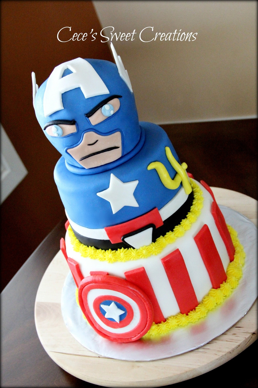 Best ideas about Captain America Birthday Cake . Save or Pin Captain America Birthday Cake CakeCentral Now.