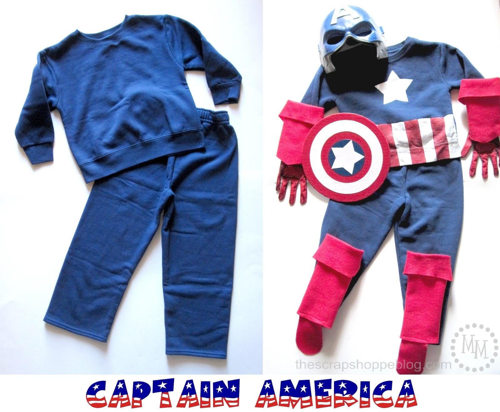 Best ideas about Captain America DIY Costume . Save or Pin DIY Captain America & Thor Costumes The Scrap Shoppe Now.