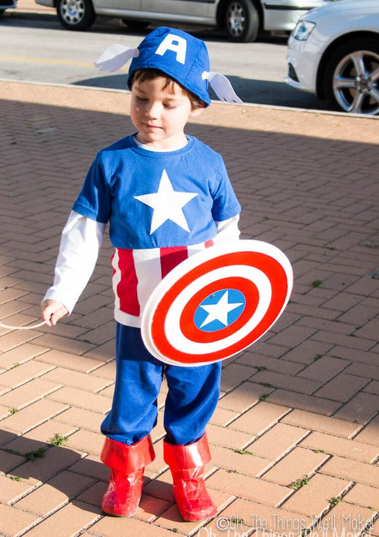 Best ideas about Captain America DIY Costume . Save or Pin Homemade Captain America Costume Oh The Things We ll Make Now.
