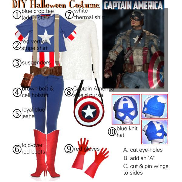 """Best ideas about Captain America DIY Costume . Save or Pin """"DIY Halloween Costume Captain America"""" by gakranz on Now."""