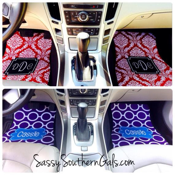 Best ideas about Car Accessories Gift Ideas . Save or Pin Car Mats Monogrammed Gift Ideas Car by SassySouthernGals Now.