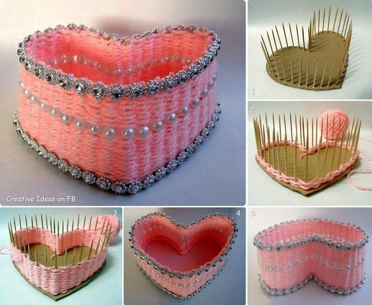 Best ideas about Cardboard Craft Ideas For Adults . Save or Pin How to make a heart shaped box using cardboard toothpicks Now.