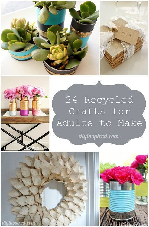 Best ideas about Cardboard Craft Ideas For Adults . Save or Pin 24 Cheap Recycled Crafts for Adults to Make Now.