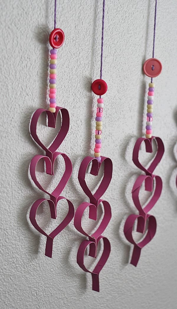 Best ideas about Cardboard Craft Ideas For Adults . Save or Pin Cardboard Tube Dangling Hearts Crafts by Amanda Now.