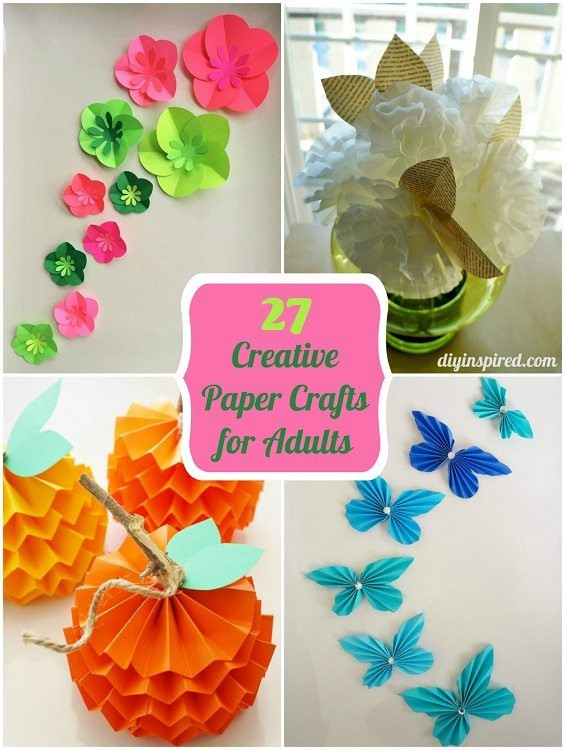 Best ideas about Cardboard Craft Ideas For Adults . Save or Pin 27 Creative Paper Crafts for Adults DIY Inspired Now.